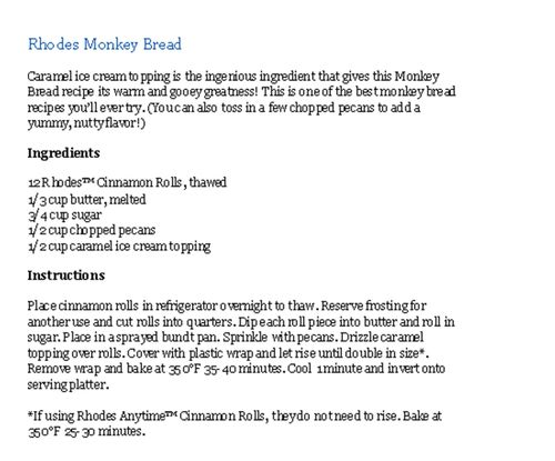 Monkey Bread Copy