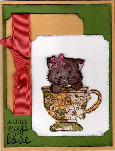 Cup of love cat