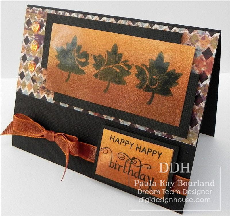 PK's Happy Leaf Trio Card